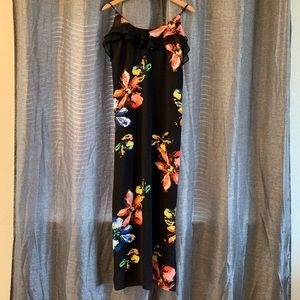 Mossimo Long Black/Floral Maxi Dress